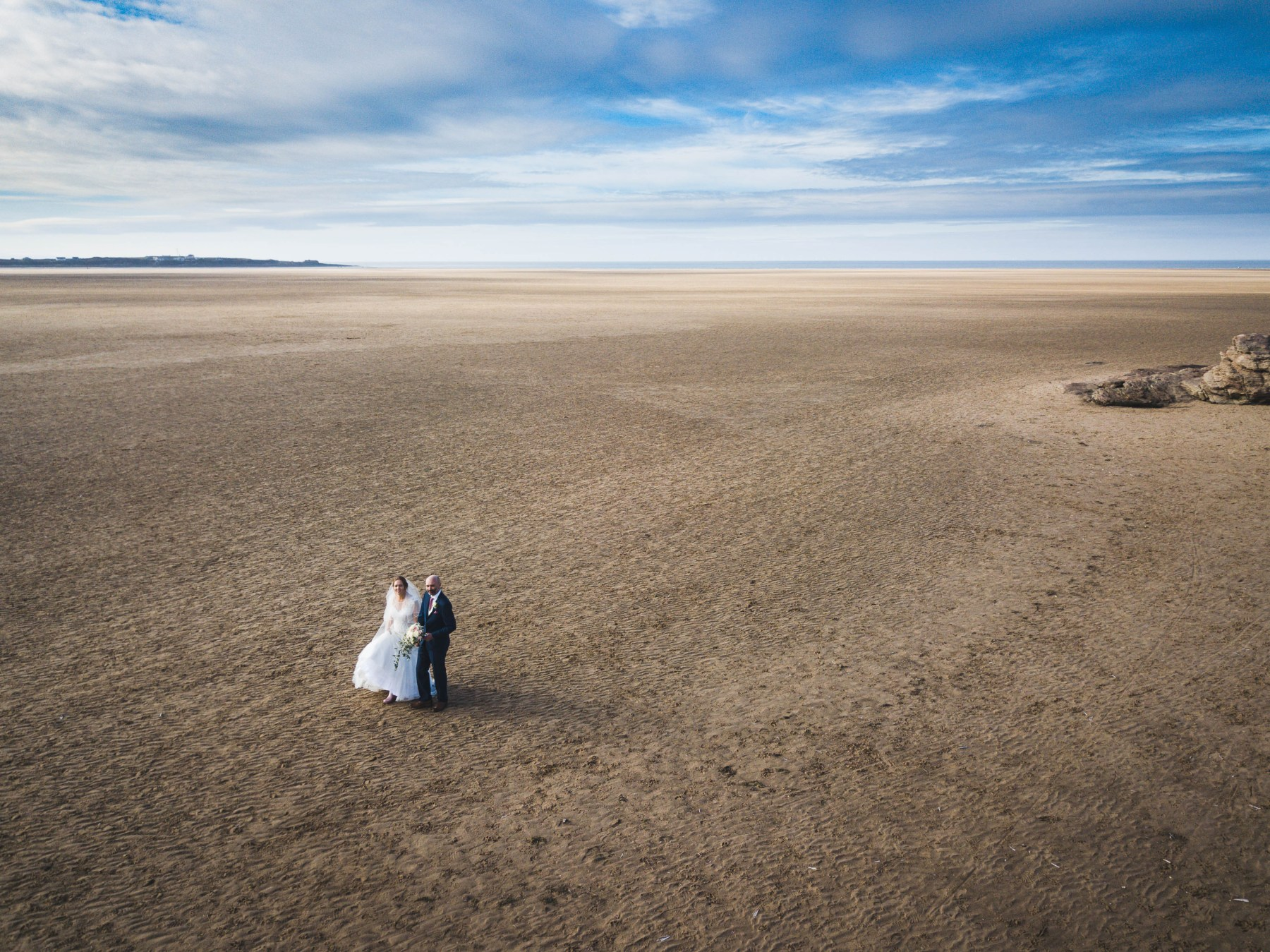 Wirral wedding drone photography