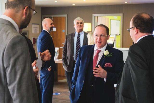 Wedding guests at Holiday Inn Gings Gap Hoylake
