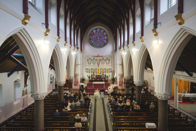 Inside the Blessed Sacrament Church in Liverpool