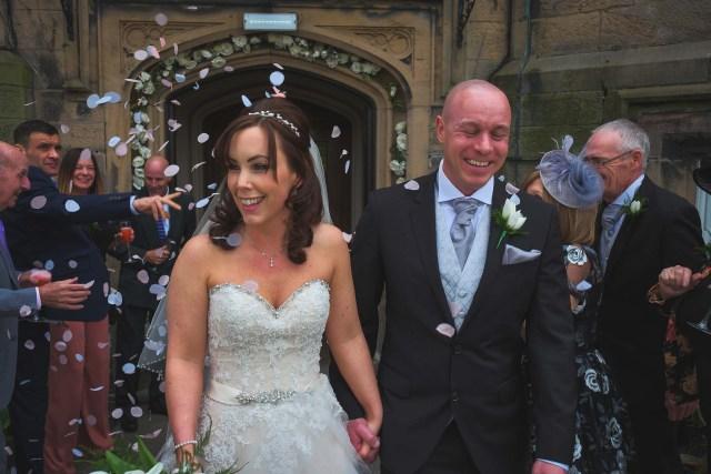 Confetti at Wirral wedding