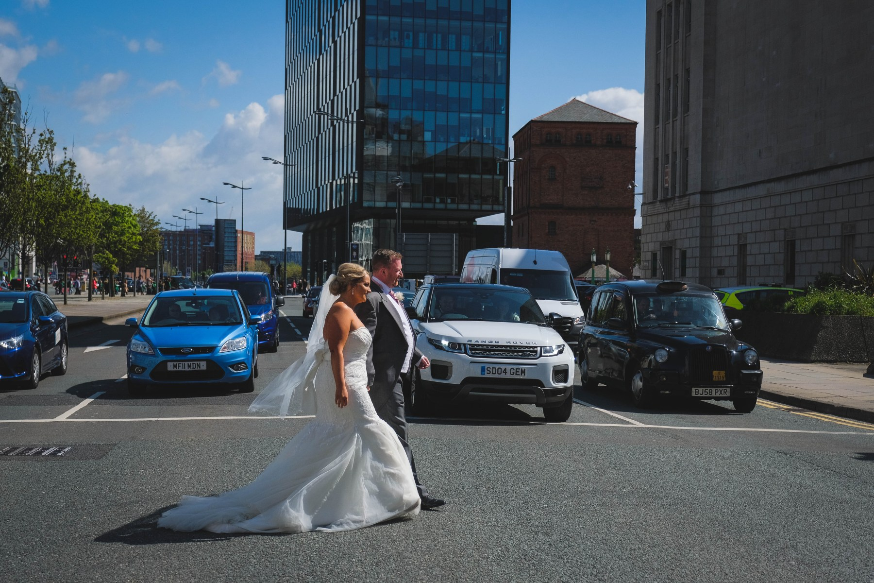Wedding photography in Liverpool City Centre at The Bentley