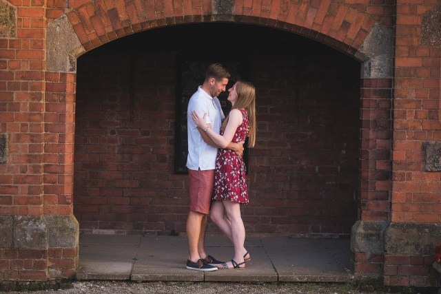 Couple in archway in Willaston