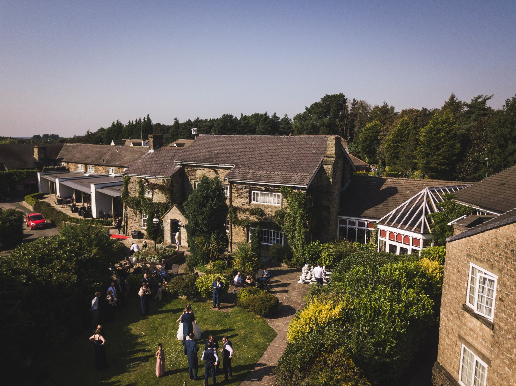 Summer wedding at Lancashire Manor