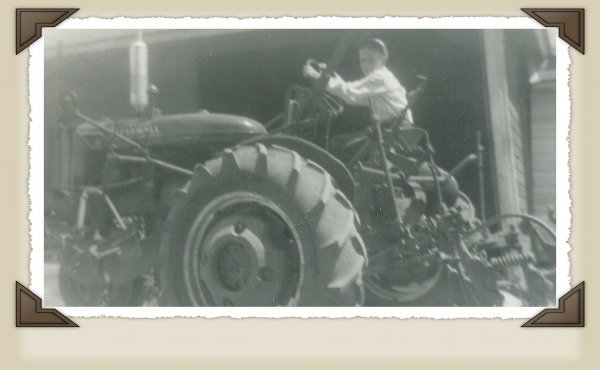 Dad on his favorite tractor