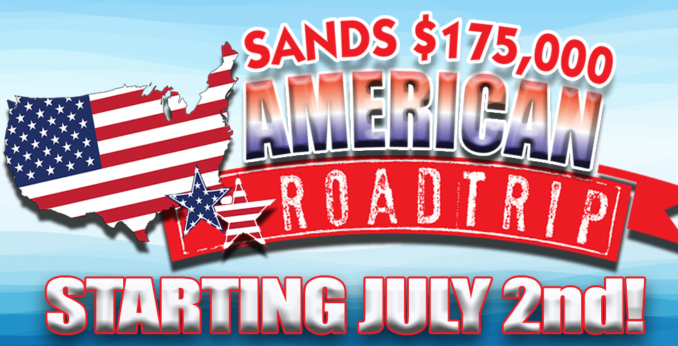Sands $175,000 American Roadtrip - Promotions & Casinos in Reno NV
