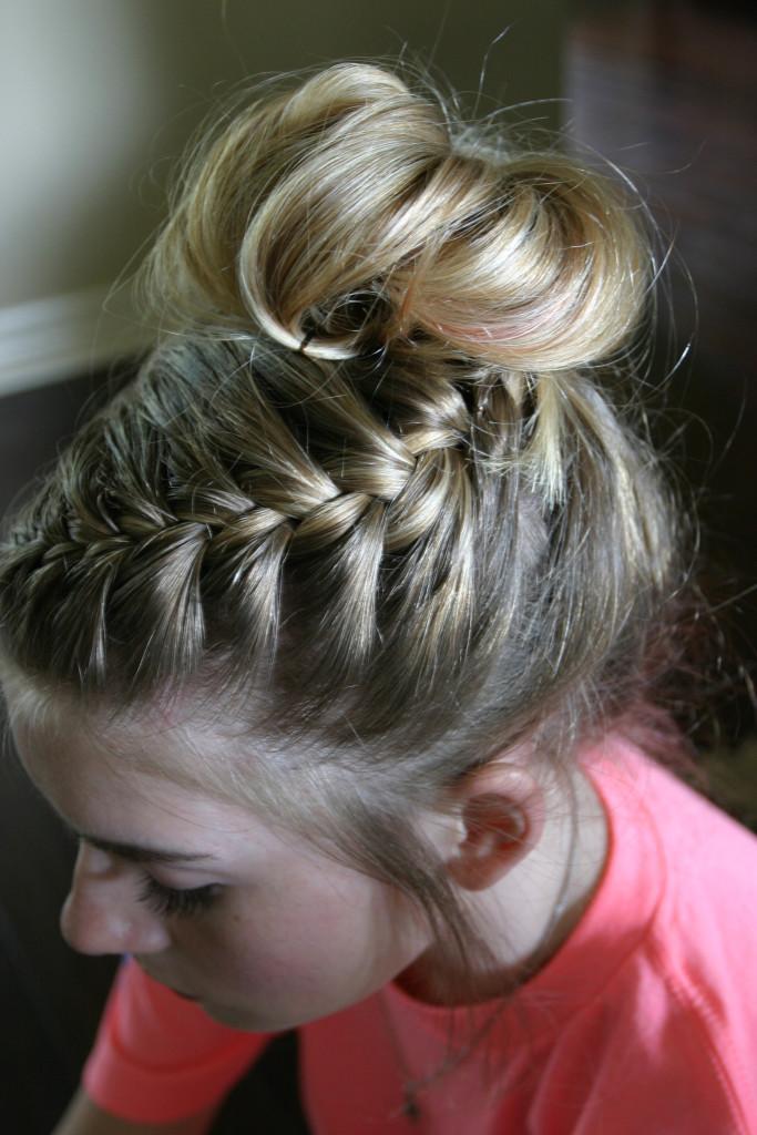 Dance Hair Braided Messy Bun Tutorial Sand Sun Amp Messy Buns