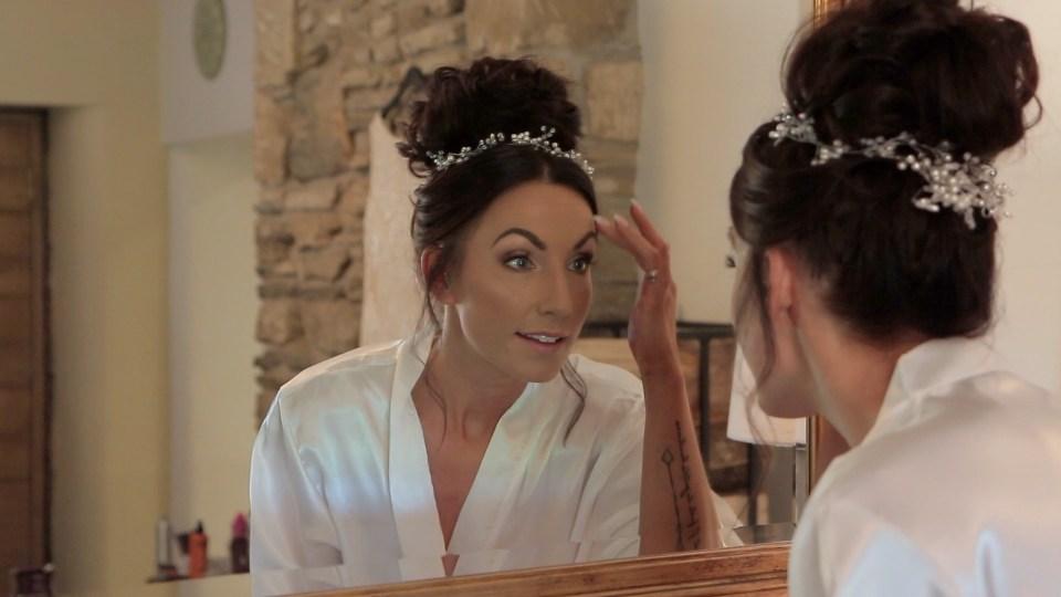 Bride preparations wedding video still