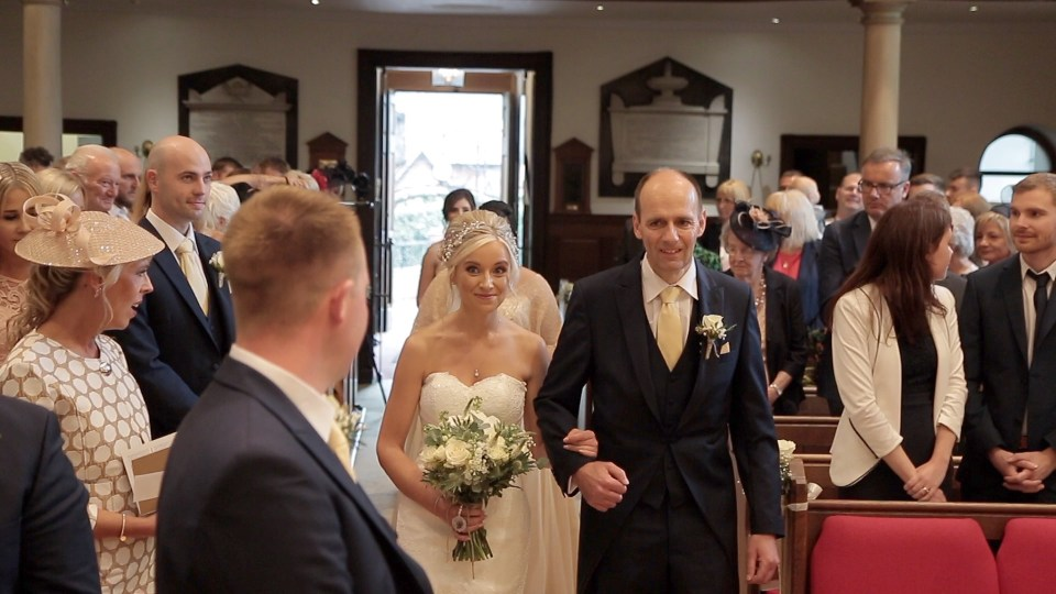 wedding ceremony at Christ Church Alsager