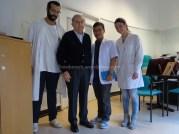 Suatu hari bersama Prof. V. Jassoni, Dott.Lorento dan Mahasiswa Kedokteran Genova Ms.Rachaelle