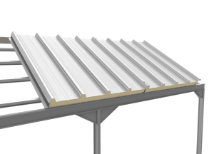 Roof Sandwich Panel Five Frets