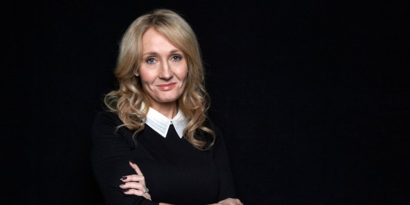 "FILE - This Oct. 16, 2012 file photo shows author J.K. Rowling at an appearance to promote her latest book ""The Casual Vacancy,"" at The David H. Koch Theater in New York. (Photo by Dan Hallman/Invision/AP, File)"