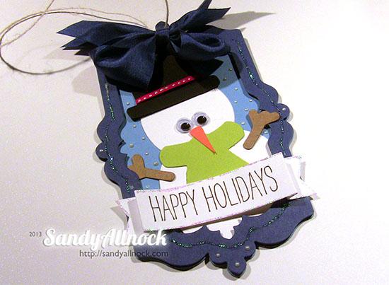 Sandy Allnock snowman ornament