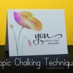 Copic + Stencils = Chalking Technique