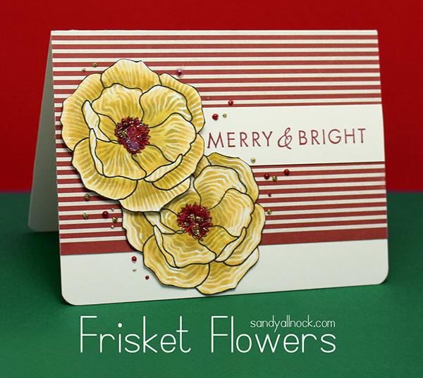 Sandy Allnock Frisket Flowers
