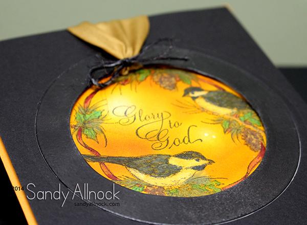 Sandy Allnock Chickadee Ornament 2