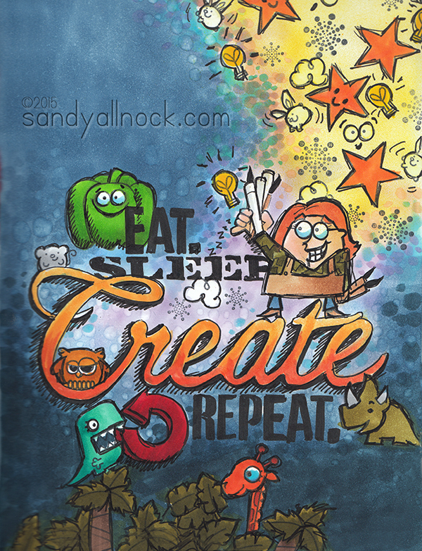 Sandy Allnock - Eat Sleep Create Art Journal