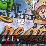Stamp Sketching (Art Journal)