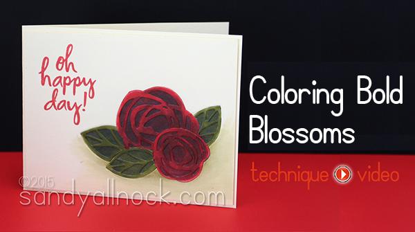Sandy Allnock Coloring Bold Blooms