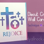 Diecut Cross Wall Art on a card