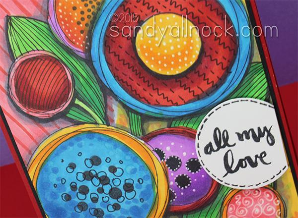 Sandy Allnock Drawing Designer Paper Flowers 2
