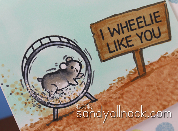Sandy Allnock Magical Monday I Wheelie Like You card