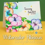 Watercolor Hibiscus – Zig Clean Color Pens
