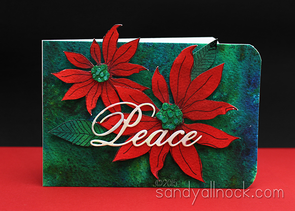 Sandy Allnock Brusho Poinsettia