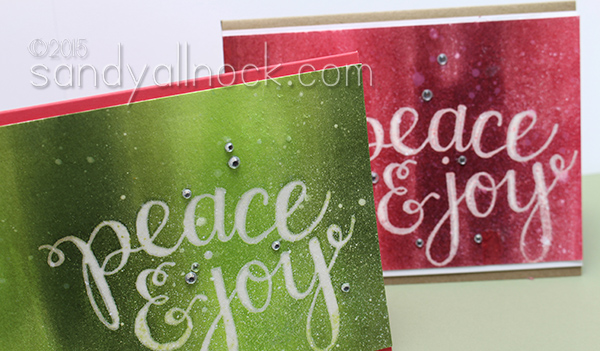 Sandy Allnock Easy Ombre Ink cards