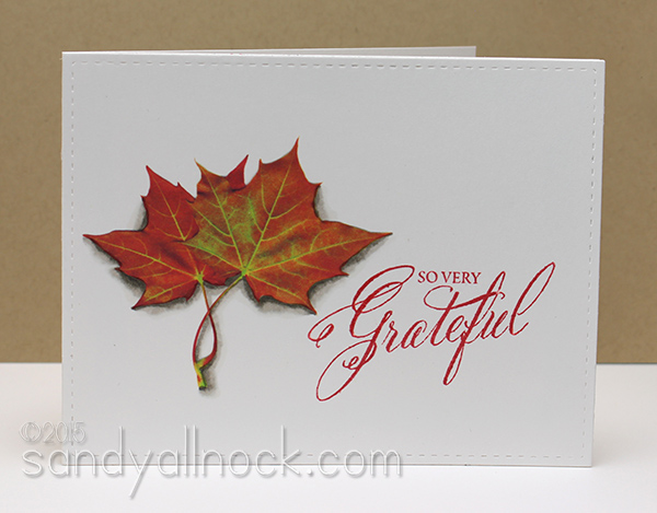 Sandy Allnock Hybrid Cardmaking leaf