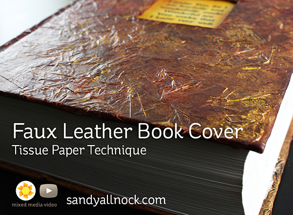 Sandy Allnock Faux Leather Book Cover