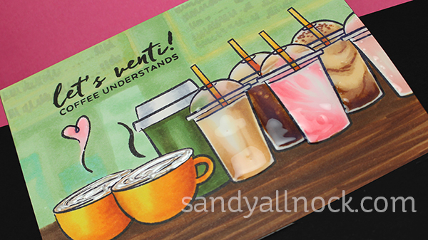 Sandy Allnock Copic Coffee n Frappe Shop