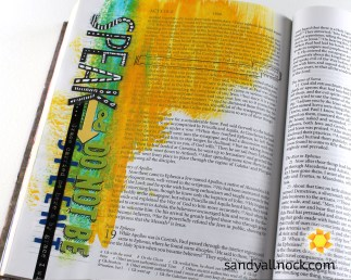 Sandy Allnock Bible Journal Do not be silent