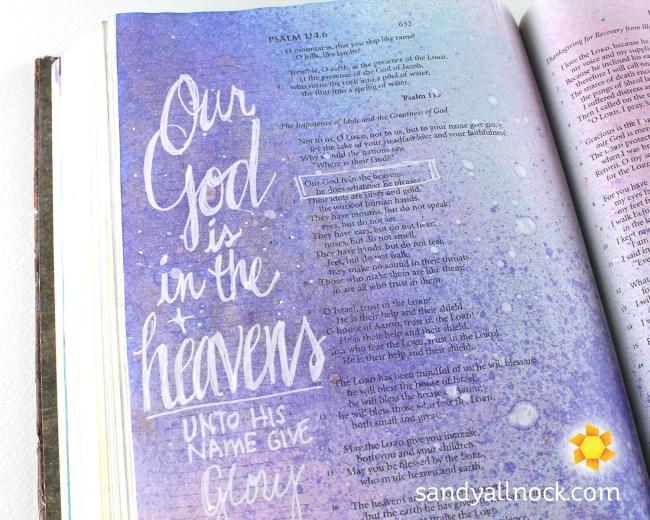 Sandy Allnock Bible Journal God in the Heavens