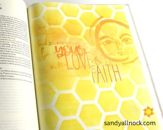 Sandy Allnock Bible Journal Hear of your Love