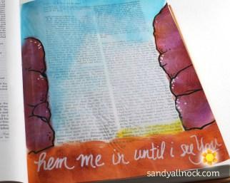 Sandy Allnock Bible Journal Hem Me In