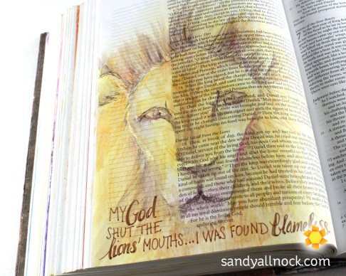 Sandy Allnock Bible Journal Lions Mouth