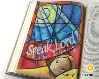 Sandy Allnock Bible Journal Speak Lord