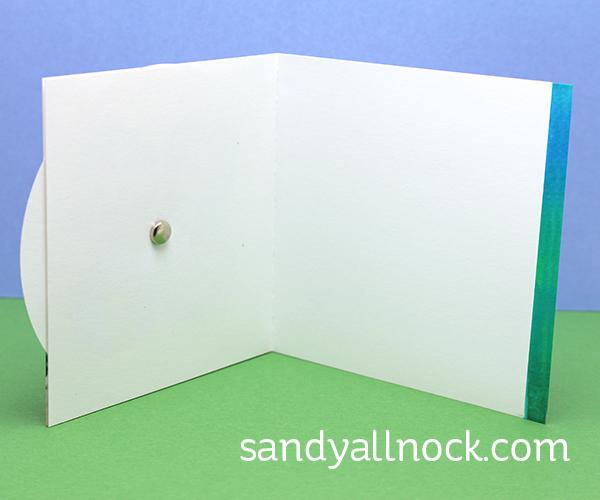 Sandy Allnock Spinning Wheel Card inside