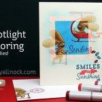 Spotlight coloring with dies – The Cats Pajamas