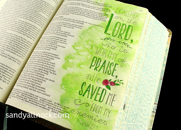 Sandy Allnock Inspire Bible Journaling simple backgrounds