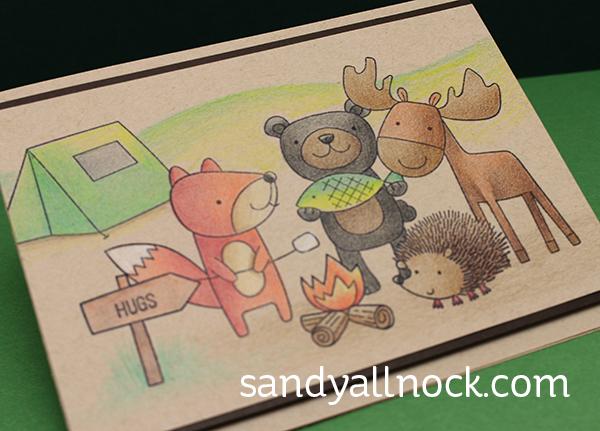 Sandy Allnock Camping w pencils