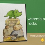 Watercoloring Rocks: MFT Rawr-Some