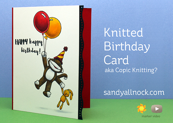 Sandy Allnock Knitted Birthday Card