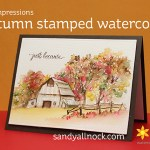 Autumn Stamped Watercolor – Art Impressions