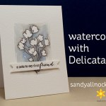 Watercoloring with Delicata Ink – a card and Bible journal page