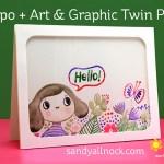Yupo + Art & Graphic Twin + Waffle Flower