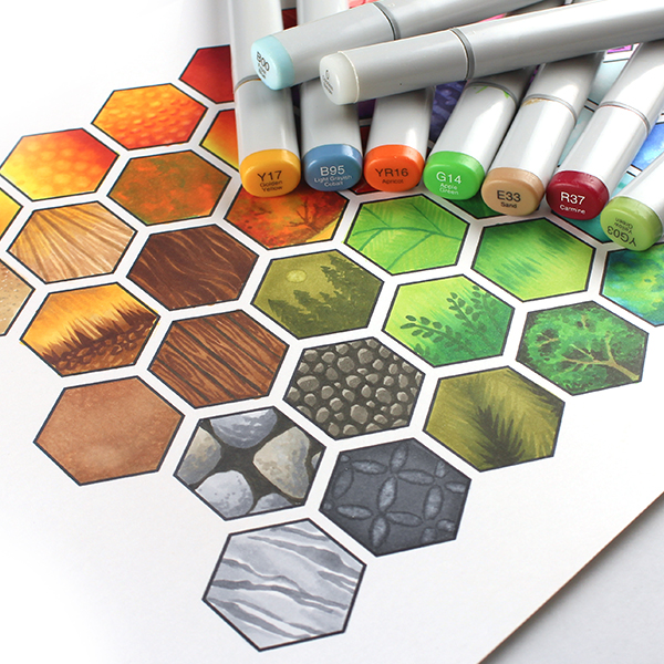 Copic Hex Art Class