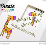 Peekaboo Giraffe Card (For April and her baby!)