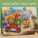 Wild Safari Race Card – guest post over at Gerda Steiner!