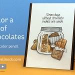 Color a jar of chocolates – in watercolor pencils